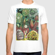 The case of The Wrong Feed On The Ol' Snail Trail... MEDIUM White Mens Fitted Tee