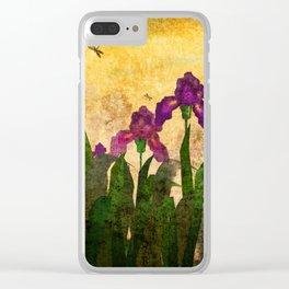 Vintage. Evening garden . Clear iPhone Case