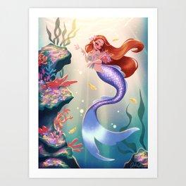 Coral Reef Bouquet Art Print