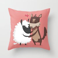 lamb Throw Pillows featuring Lamb by Alfonso Cervantes