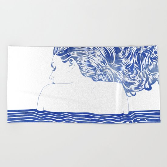 Water Nymph LXII Beach Towel