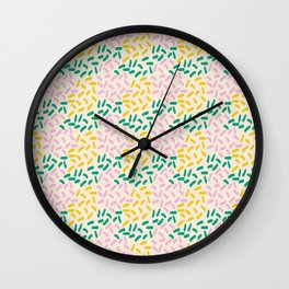 Field of lines in pastel Wall Clock
