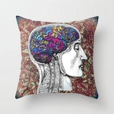 Creative mind Throw Pillow