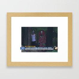 CLOWN HYSTERIA SPOOKS LOCAL TEENS Framed Art Print