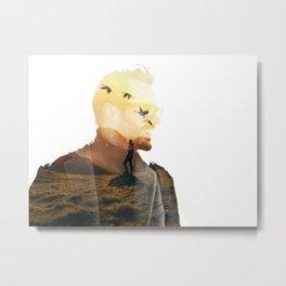 Landscape Man (Double Exposure) Metal Print