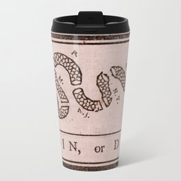 Original Join or Die Benjamin Franklin Political Cartoon Travel Mug