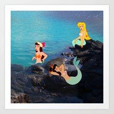 Peter Pan's Mermaid Lagoon Art Print