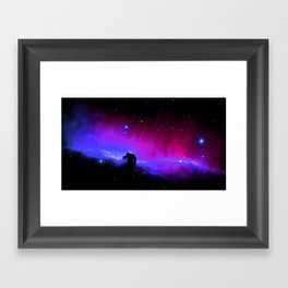 nEbulA : Horsehead Nebula Fuchsia Purple Blue Framed Art Print