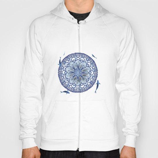 8 Koi Lotus Mandala in Blue Hoody