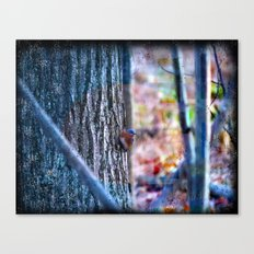Blue Bird Forest In A World Of Colors And Textures Canvas Print