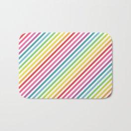 Rainbow Geometric Striped Pattern Bath Mat