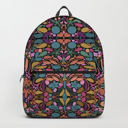 Stained Glass Flower Pattern Backpack