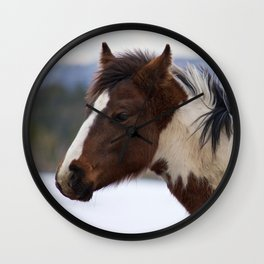 Tri-Colored Horse Wall Clock