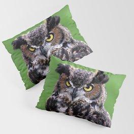Owl green Pillow Sham