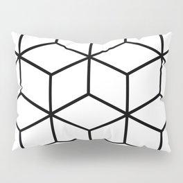 Black and White - Geometric Cube Design I Pillow Sham