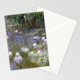 """Claude Monet """"Water lilies""""(2) Stationery Cards"""