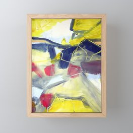 Ferndale ii. Bright, abstract landscape Framed Mini Art Print
