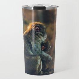 Macaque Motherly Love Travel Mug