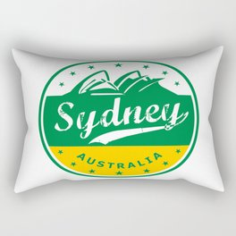 Sydney City, Australia, circle, green yellow Rectangular Pillow