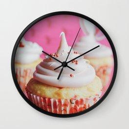 Festive Cupcakes Wall Clock