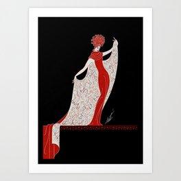"Art Deco Fashion Design ""Alphabet Cloak"" Art Print"