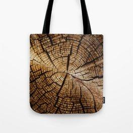 Ol' and weathered log Tote Bag