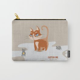 Ginger Cat and Mice Catch me If You Can Carry-All Pouch