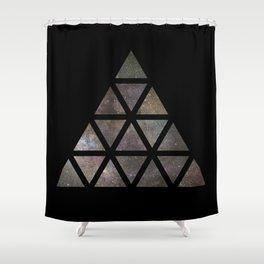 Galaxy Triangular Multicolor Shower Curtain