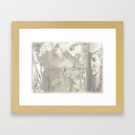 Greek statues Framed Art Print