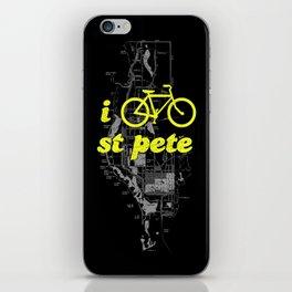 I Bike St. Pete iPhone Skin