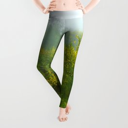 Green forest after raining Leggings