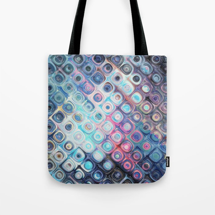 Reflecting Circles of Color Tote Bag