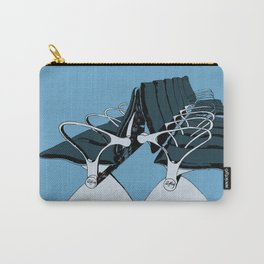 AirportChairs Blue Carry-All Pouch