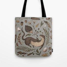 Weasel and Hedgehog Tote Bag