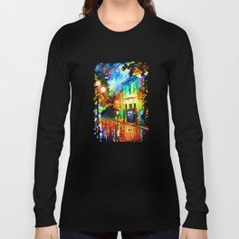Tardis Art And The Light Street Long Sleeve T-shirt