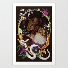 Deus et Natura Non Faciunt Frusta Art Print
