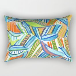 Bent and Straight Ladders Pattern Rectangular Pillow