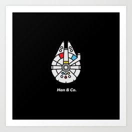 Han and Co Art Print