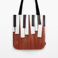 jazz Tote Bags featuring Jazz by Rceeh