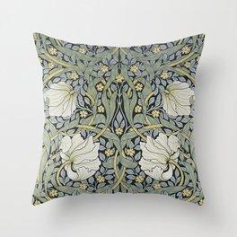 William Morris - Pimpernel  Wallpaper Design Throw Pillow
