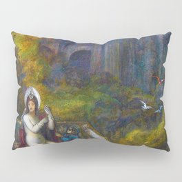 Psalms, King David watching Bathsheba washing from the palace rooftop by Gustave Moreau Pillow Sham