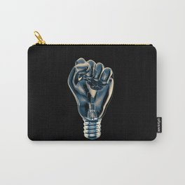 Protest fist light bulb / 3D render of glass light bulb in the form of clenched fist Carry-All Pouch