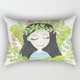 Astilbe - Dreamy girl Rectangular Pillow