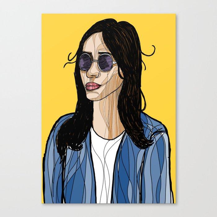 a8fa43e14be woman with summer sunglasses Canvas Print by betulsalman