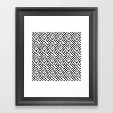 Zebra stripes minimal black and white modern pattern basic home dorm decor nursery Framed Art Print