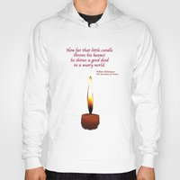 shakespeare Hoodies featuring Shakespeare Candle Flame by Bebop's Place