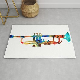 Colorful Trumpet Art By Sharon Cummings Rug