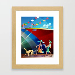 COUPLE AT A BOAT SHOW Framed Art Print