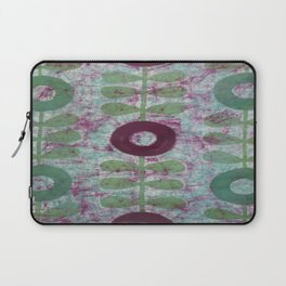 Zinnias in Purple and Green Laptop Sleeve