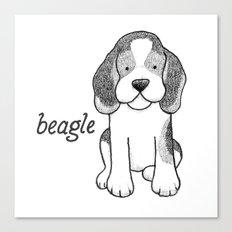 Dog Breeds: Beagle Canvas Print